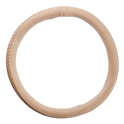 708-070 NEW GALAXY Оплетка руля экокожа, плетёные вставки, бежевый, разм. (М)