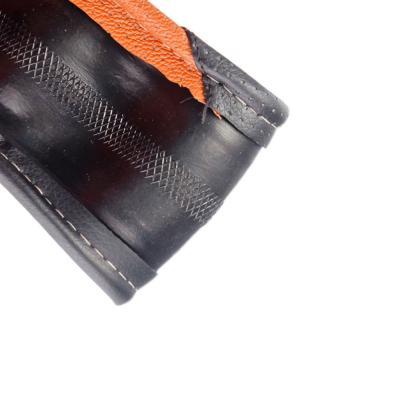 708-071 NEW GALAXY Оплетка руля экокожа, черный/коричневый, разм. (М)