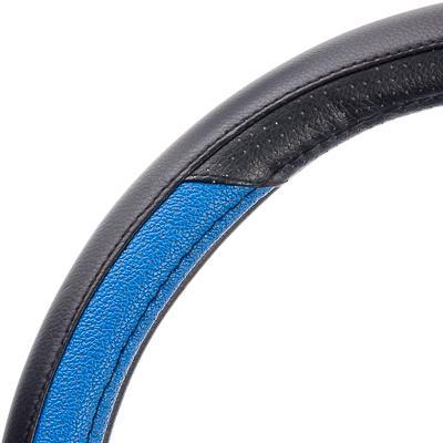 708-072 NEW GALAXY Оплетка руля экокожа, черный/синий, разм. (М)