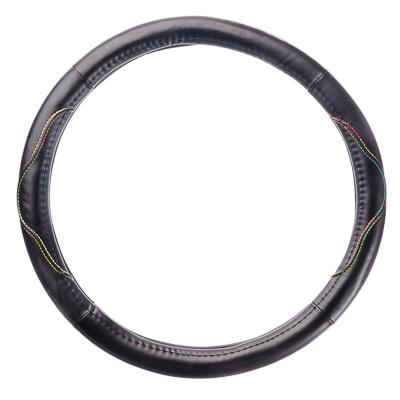 708-074 NEW GALAXY Оплетка руля гладкая кожа, гладкая, черный, разм. (М)