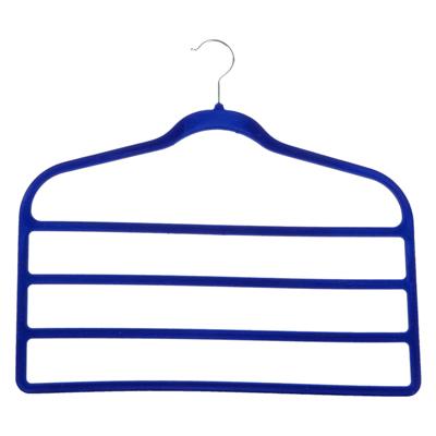 456-078 Вешалка для брюк, 45х42см, с покрытием флок