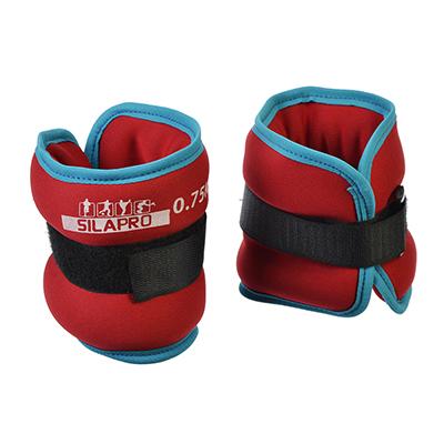 191-045 SILAPRO Набор утяжелителей для рук и ног текстильный, вес 1,5кг, 2шт х 0,75кг