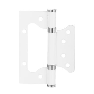 620-186 KORAL Петля накладная (БЕЗ ВРЕЗКИ) 4x3x2 ww, белый