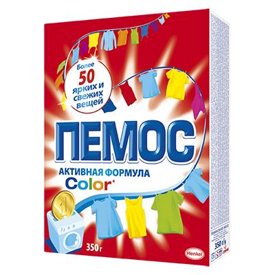 958-068 Стиральный порошок ПЕМОС Колор для цветного белья, к/у 350г