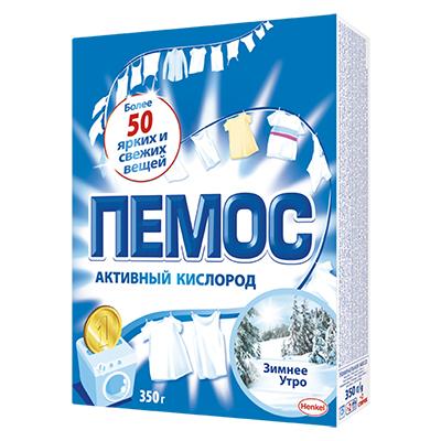 958-069 Стиральный порошок ПЕМОС Зимнее утро для белого белья, к/у 350 г