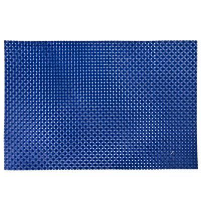890-307 Салфетка сервировочная, крупноплетеный ПВХ, 30x45см, синие оттенки, 3 цвета