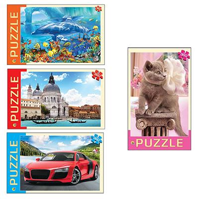 272-506 РЫЖИЙ КОТ Пазлы 360 деталей, картон, 50х34,5см, 4 дизайна