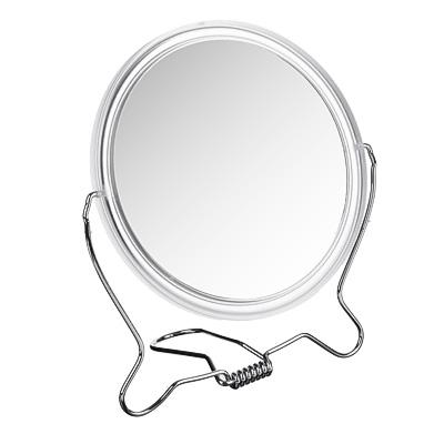 347-058 Зеркало настольное, 14х17,4х0,7 см, пластик, стекло, металл, 1 цвет