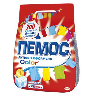 958-072 Стиральный порошок ПЕМОС Колор 2кг для цветного белья, арт.IDH2080109/2232830
