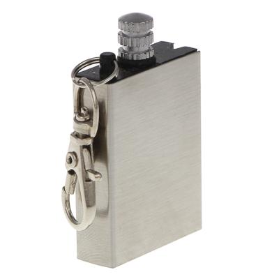 118-081 Спичка-огниво вечная ЧИНГИСХАН заправляемая с карабином, металл 5х3х1см