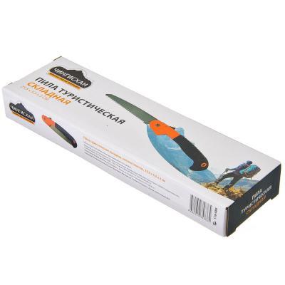 118-088 Пила туристическая складная ЧИНГИСХАН металл/пластик, 23,5х5,5х3см