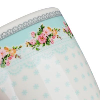 """806-058 Кружка фарфоровая 350 мл, 4 цвета, """"Нежная-2"""""""