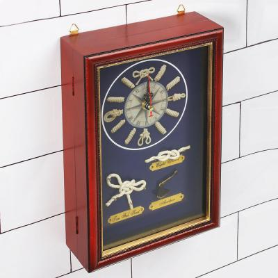 510-073 LA DECOR Ключница декоративная на 6 крючков, дерево, стекло, 30х20х7см, арт.08-08