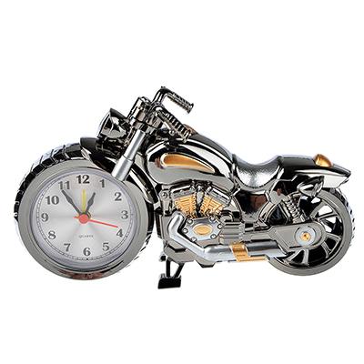 529-118 Часы настольные, в виде мотоцикла, пластик, 26,5х12см, 1хАА