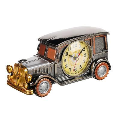 529-119 Часы настольные, в виде автомобиля, пластик, 19х9х7,5 см, 1хАА
