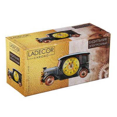 581-400 Часы настольные, 2 вида, пластик, 19х9х7,5см, 12,5х21 см, 1хАА