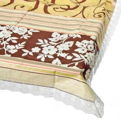 479-158 Скатерть на стол виниловая, клеенка с ажурной каймой, 137x182см, VETTA