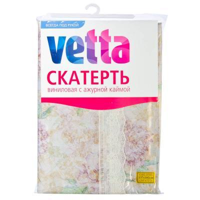 479-169 Скатерть на стол виниловая клеенка с ажурной каймой VETTA 137x182см