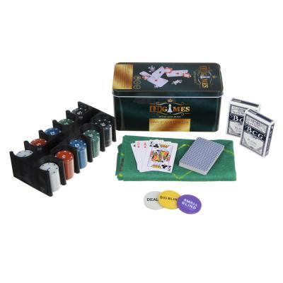 538-054 Набор для покера в жестяной коробке, 24х11,5х11,5см, металл, пластик
