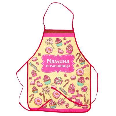 433-002 VETTA Набор кухонный для девочек 3 пр. (фартук, косынка, прихватка), GC