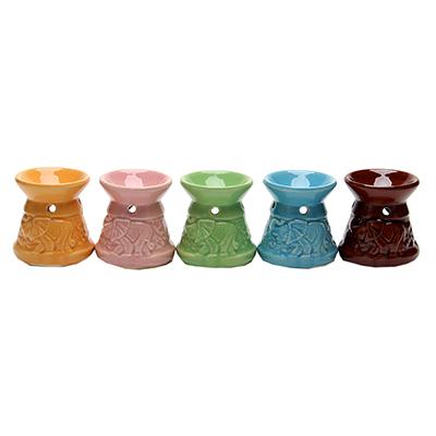 536-264 Аромалампа, керамика, 6,7х6х6см, 5-6 цветов, арт.1608-14