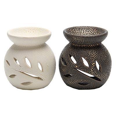 536-265 Аромалампа, керамика, 8,5х8х8см, 2 цвета, арт.1608-15