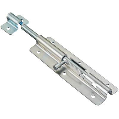 602-054 Засов дверной, сталь, ЗД-140х45мм (d9мм), покрытие белый цинк