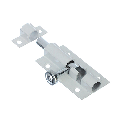 602-063 Шпингалет 60х31мм, сталь, белый