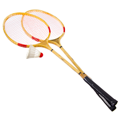 136-011 Набор для бадминтона: ракетка 2 шт, волан, бамбук, SILAPRO