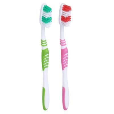 982-013 Зубная щетка 1+1 с тонкой щетиной, средней жесткости, пластик/резина, индекс жесткости 5