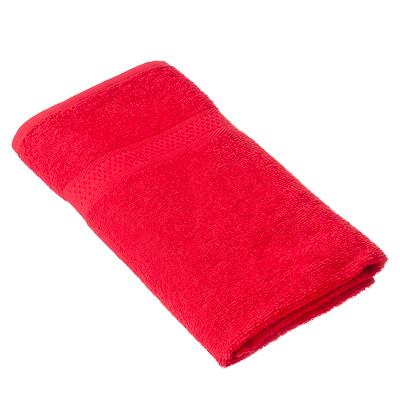 "489-069 Spany Home Полотенце махровое, 100% хлопок, 50х90см, ""Grace"", красный, ПГ-08521"
