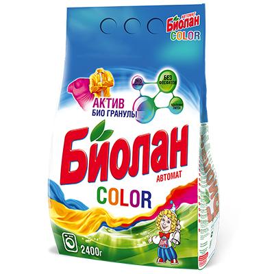 958-080 Стиральный порошок Биолан для цветного автомат п/у 2400г арт.744-4