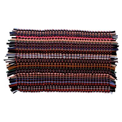 466-273 Коврик плетеный эконом, полиэстер, 35х55см, разноцветный