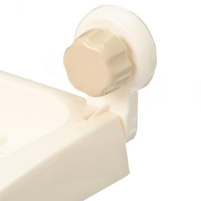 463-778 Полочка в ванную на присосках, пластик, 295х125х90мм, до 2 кг
