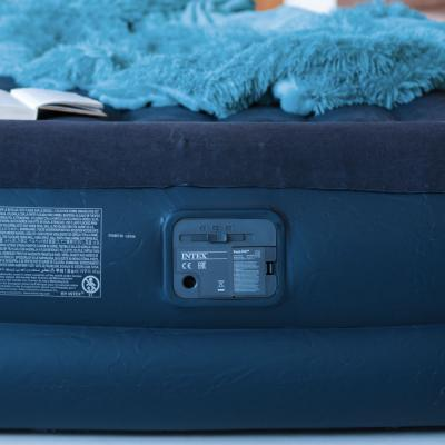 108-008 Матрас надувной INTEX Квин 152х203х42см, встроенный электронасос, 64124