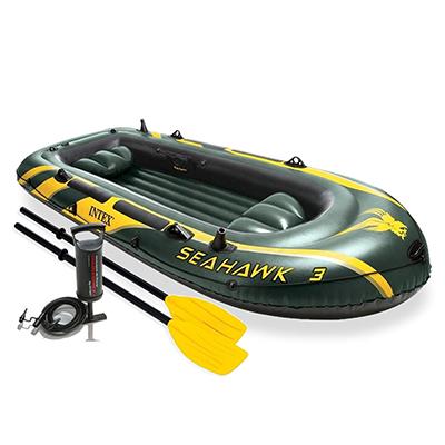 109-104 Надувная лодка с аксессуарами INTEX 68380 Морской сокол 3, 295х137х43см