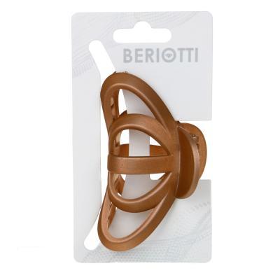 324-103 Заколка-краб для волос, металл, пластик, 8 см, 6 цветов