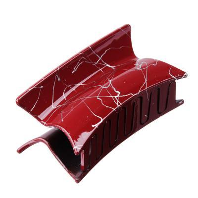 324-107 Заколка-краб для волос, металл, пластик, 6 см, 6 цветов