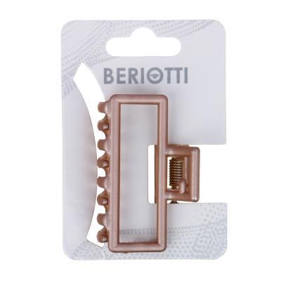 324-110 Заколка-краб для волос, металл, пластик, 5 см, 6 цветов