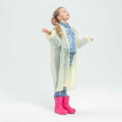 188-058 Детский дождевик-плащ в горошек, ЭВА, 100 мкр., 83х54 см, 3 цвета, INBLOOM