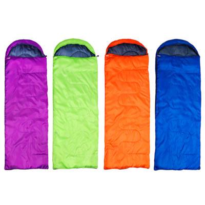 122-041 Спальник туристический с капюшоном, 210х75см, полиэстер 170T, 950 гр., холлофайбер 250 г/м2, +5С