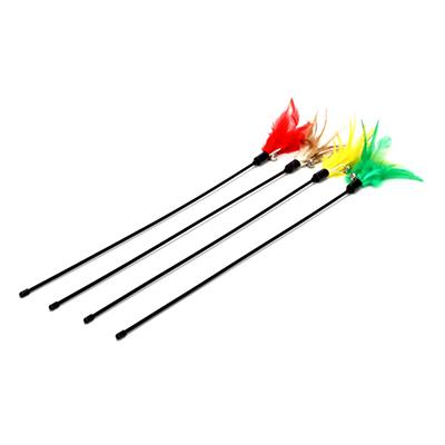 """183-033 Игрушка для кошек """"Метелка из перьев"""" 60см"""