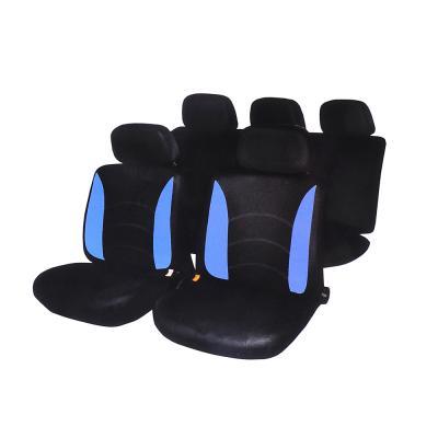 798-453 NEW GALAXY Авточехлы 9 пр., полиэстер, Гамма, 3 молн. в спинке, 3 молн. в сидении, черный/синий