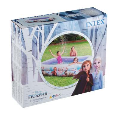109-116 Надувной бассейн для детей INTEX 58469 Холодное сердце 262х175х56 см, от 6 лет