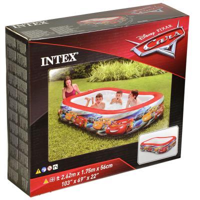 109-121 Надувной бассейн для детей INTEX 57478 Тачки 262х175х56 см