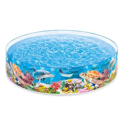 109-179 Бассейн надувной, 244х46 см, возраст от 3 лет, INTEX Коралловый риф снапсет, 58472