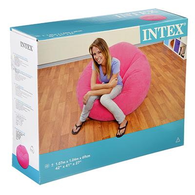 109-189 Надувное кресло для дома INTEX 68569 107х104х69 см в 3 цветах