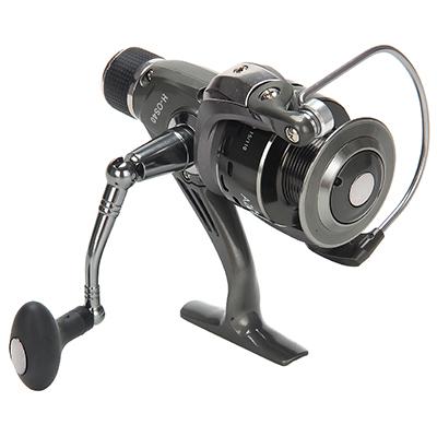 142-033 AZOR  FISHING Катушка безынерционная H-OS40, 6+1 п.п, задний фрикцион (2 шпули: металл, пластик)