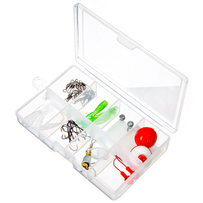 143-024 AZOR Набор рыболовных аксессуаров 41шт, в пластиковом органайзере, 15x10x2см
