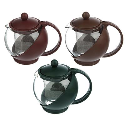 850-156 Чайник заварочный 500 мл, ситечко из нержавеющей стали, стекло/пластик